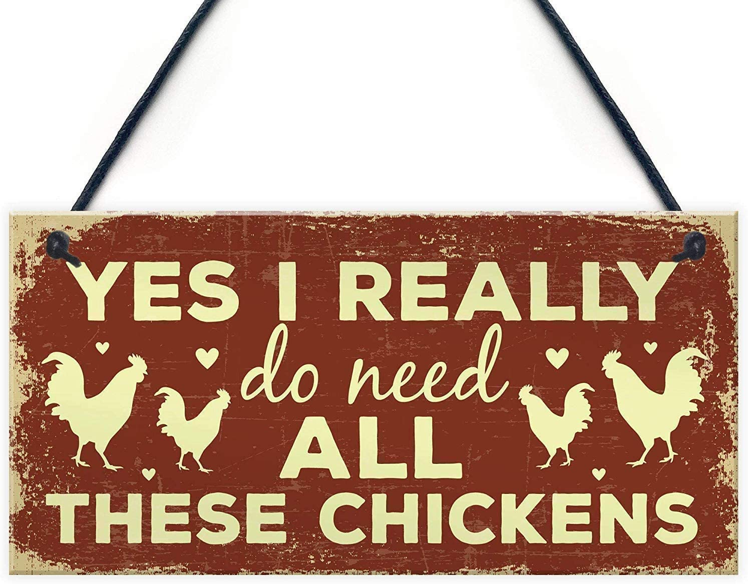 Funny Chicken Sign