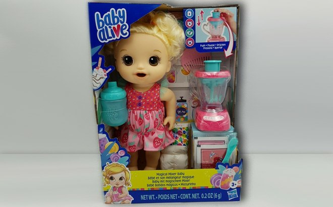 Baby Alive Magical Mixer Doll $16