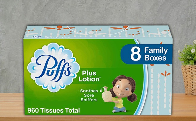 Puffs Plus Lotion Tissues 24-Pack $10