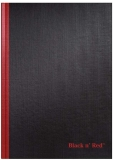Black n' Red Hardcover Notebook, Casebound, Large, Black, 96 Ruled Sheets, Pack of 1 (D66174) $6.70