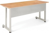 OFM Model 55142 24″ x 55″ Modular Utility and Training Table, Maple with Silver Frame $139.74