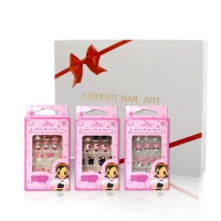 Kids False Nails 3 Pack Press On Flake Nails For Girls Christmas Gift Package Glue On Nails $7.99