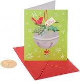 Papyrus Christmas Cards Boxed,Holiday Jingle Bells (20-Count) $3.05
