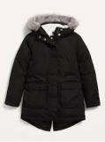 Frost-Free Faux-Fur Lined Hooded Puffer Jacket $14.97
